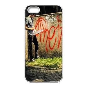 [Graffiti Designs] Graffiti 8 Case for IPhone 5,5S, IPhone 5,5S Case {White}