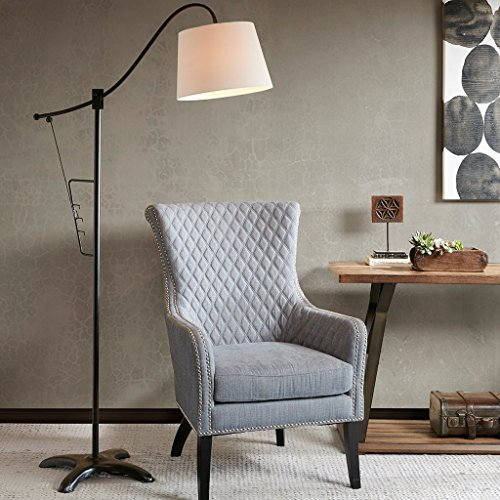 Urban Living Torchiere (Modern Metal Adjustable Floor Lamp with White Shade and Bronze Metal Finish - Includes Modhaus Living Pen)
