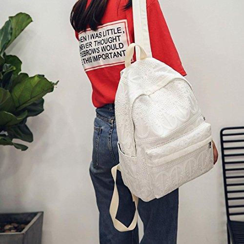 del del hombro Bolso morral Morwind Negro por personalizado Blanco del cordón bolso estudiante del pnFxqwx