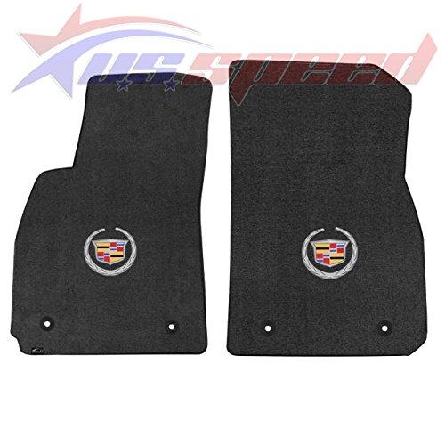 Fits 2013-UP Cadillac XTS Floor Mats Ebony With Crest 2PC
