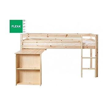 Flexa Bett Mi Oben Büro Kiefer Natur Lackiert Liegefläche 90 X 200