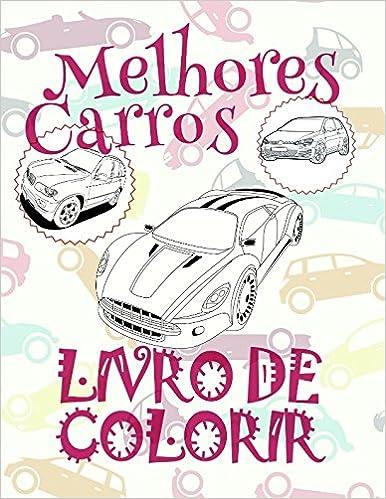 Livro De Colorir Melhores Carros Coloring Book For Boys