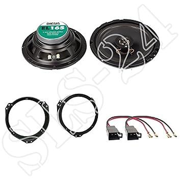 Altavoces anillos adaptador 165 mm cable para Opel Signum altavoz frontal puertas