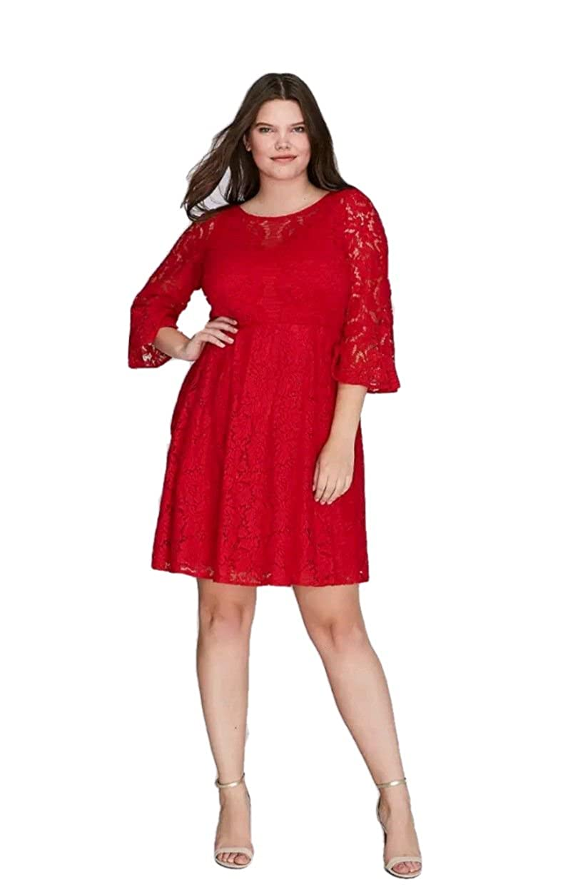 53b55a4b08d Lane Bryant Dress Lace Fit   Flare Women Plus Size (22) at Amazon Women s  Clothing store