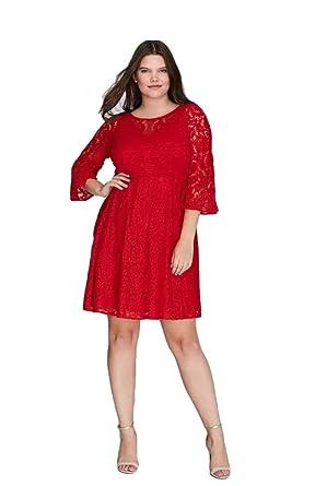Lane Bryant Dress Lace Fit & Flare Women Plus Size (22) at Amazon ...