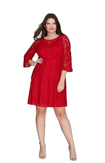 Lane Bryant Dress Lace Fit Flare Women Plus Size 22 At Amazon