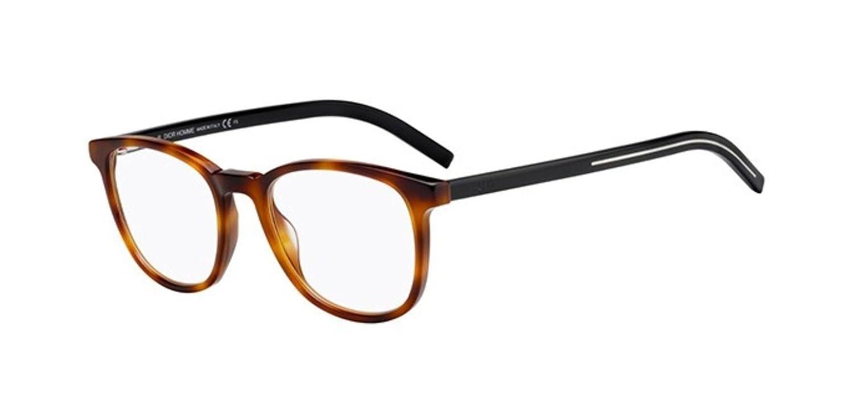 dbdc89fa9064 Amazon.com  New Christian Dior Homme Black Tie 242 086 Dark Havana Eye Wear  Eye Glasses  Clothing
