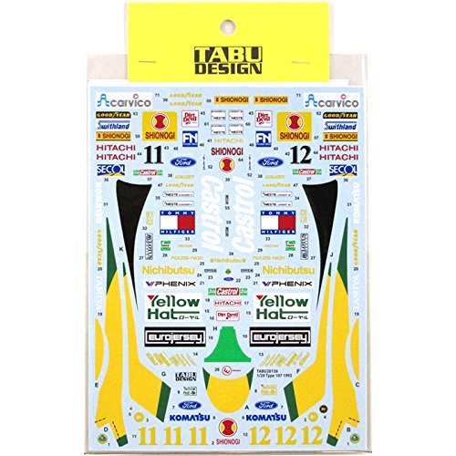 (Tab Design 1/20 Lotus 107 1992 decal Tamiya support Tabu design)