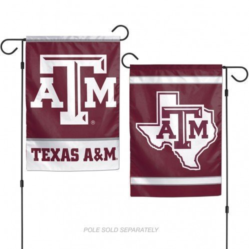 WinCraft NCAA Texas A&M University Aggies 12x18 Inch 2-Sided Outdoor Garden Flag Banner - Texas A&m Yard