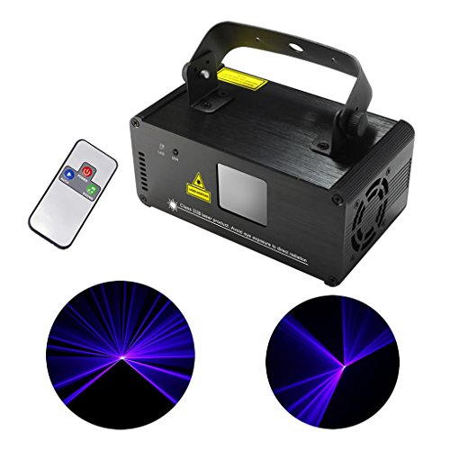 Mini IR Remote 8 CH DMX 512 Blue Color Stage Lighting DJ Party Disco Show Projector Lights ADM-B450 by JE