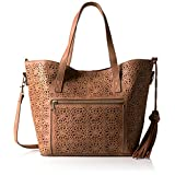 T-Shirt & Jeans Lace Mirage Small Tote, Cognac