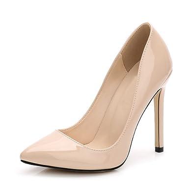 Zapatos de tacón alto con puntera cerrada para mujer de la marca Ochenta, color, talla 43