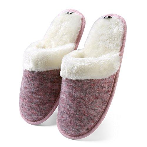 Lined Memory Slip Woven Cozy on Clog Plush Women's Aerusi Foam Houser Fleece Purple Slipper wYqXEp