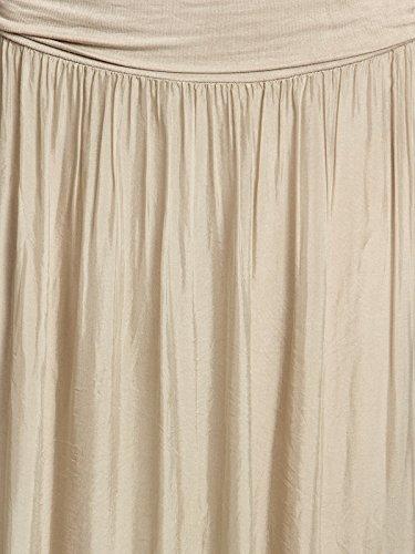Taupe d't lgante Femme Jupe Lgre et Caspar RO025 Fashion Soie CASPAR en Longue pour WOZxHH