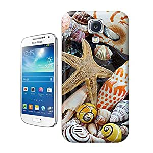 Unique Phone Case Nautilus shell, cone Sea shells and sea star and on a beach Hard Cover for samsung galaxy s4 cases-buythecase