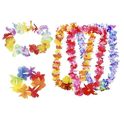 Luau Party Kit (36 Pieces) Flower Bracelet (12pcs) Flower Headband (12pcs) Carnation Flower Lei (Luau Decorations Party City)