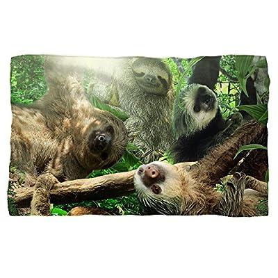 Sloth Club Fleece Blanket White 48X80 - 0889832488183