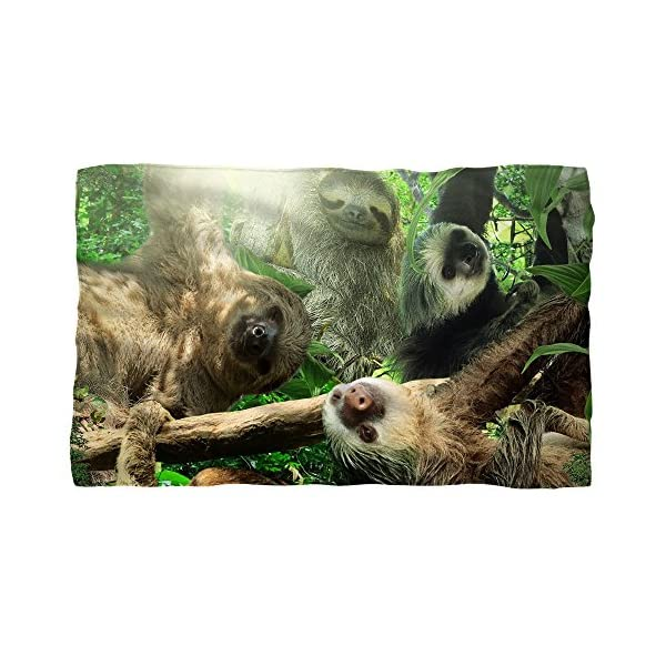 Sloth Club Fleece Blanket White 48X80 -