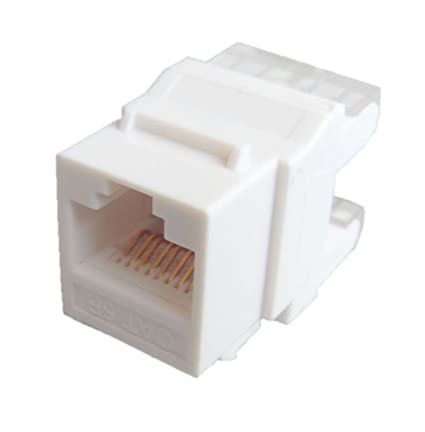 CNCT ( 2 Pc Pack ) Keystone Jack (8p8c) for both Cat 5e and Cat 6 wires Jack Systimax Cat Wiring Diagram on
