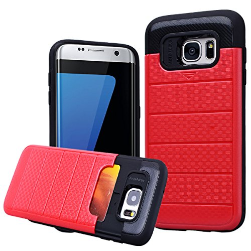 Shockproof Hard TPU Case for Samsung Galaxy S7 Edge (Hot Pink/Blue) - 7