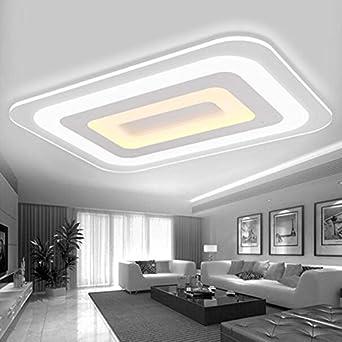 Perfekt Ultra Dünnen Moderne Minimalistische LED Licht Halle Schlafzimmer Wohnzimmer  Deckenlampe Beleuchtung Großes Rechteck Kreative Restaurant