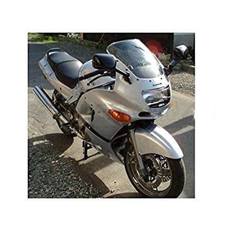Deep Iridium Motorcycle Double Bubble WindScreen Windshield Wind Deflectors Motorbike Screen Airflow For Kawasaki ZZR400 ZX400N ZZR600 ZZR 600E
