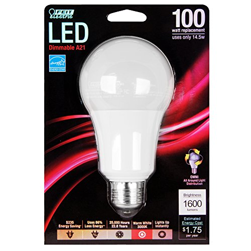 (Feit Electric BPOM100/830/LED A21 3000k Dimmable LED, 100W)
