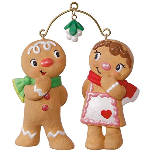Gingerbread Cookie Decorations (Hallmark Keepsake 2017 Cute Cookie Couple Christmas Ornament)