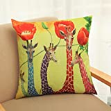 Hatop Home Decorative Giraffe and Flower Cotton Linen - Best Reviews Guide