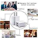 IETGZ 2A Dual Port 2 USB Wall Charger 4 Pack Mini High Speed Home Travel Charging Adapter Plug for Apple iPad iPhone iPod 5 6 7 8 and Samsung Mobile Phone Tablet Galaxy S3 S5 S6 S7 Plus LG Nexus White