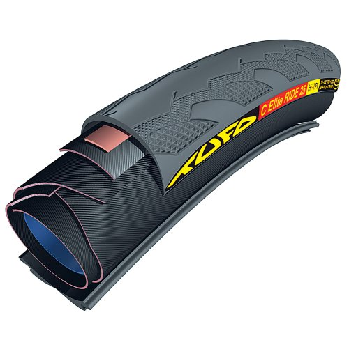 Tufo 700X23 C Elite Ride 25 Tubular-Clincher Tire (Black) Tubular Tire Rolling Resistance