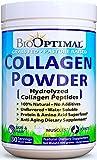 BioOptimal Collagen Powder, Collagen Peptides Grass Fed, Non-GMO Premium Quality Hydrolyzed Collagen Protein, Pasture Raised, Dissolves Easily, 300 Grams