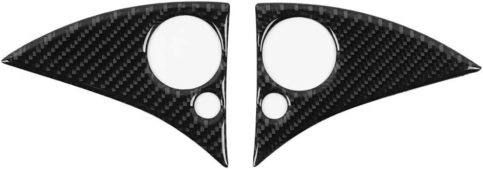 Yctze 2pcs Lenkradtasten Verkleidung Carbon Auto Lenkrad Knopfleiste Aufkleber Linkslenker Für W204 C Klasse 07 10 Auto