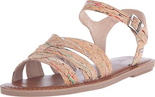 Toms Zoe Sandals Multi Cork 10007915 Womens (Toms Flat Sandals)
