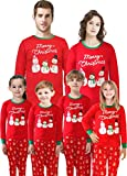 Family Matching Christmas Santa Claus Pajamas 2 Piece Set Sleepwear for Women Mum Size XL