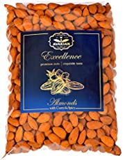 Almonds Roasted and Salted with Curry Spicy (Mild) Premium Quality 1kg. Gluten Free. Vegan