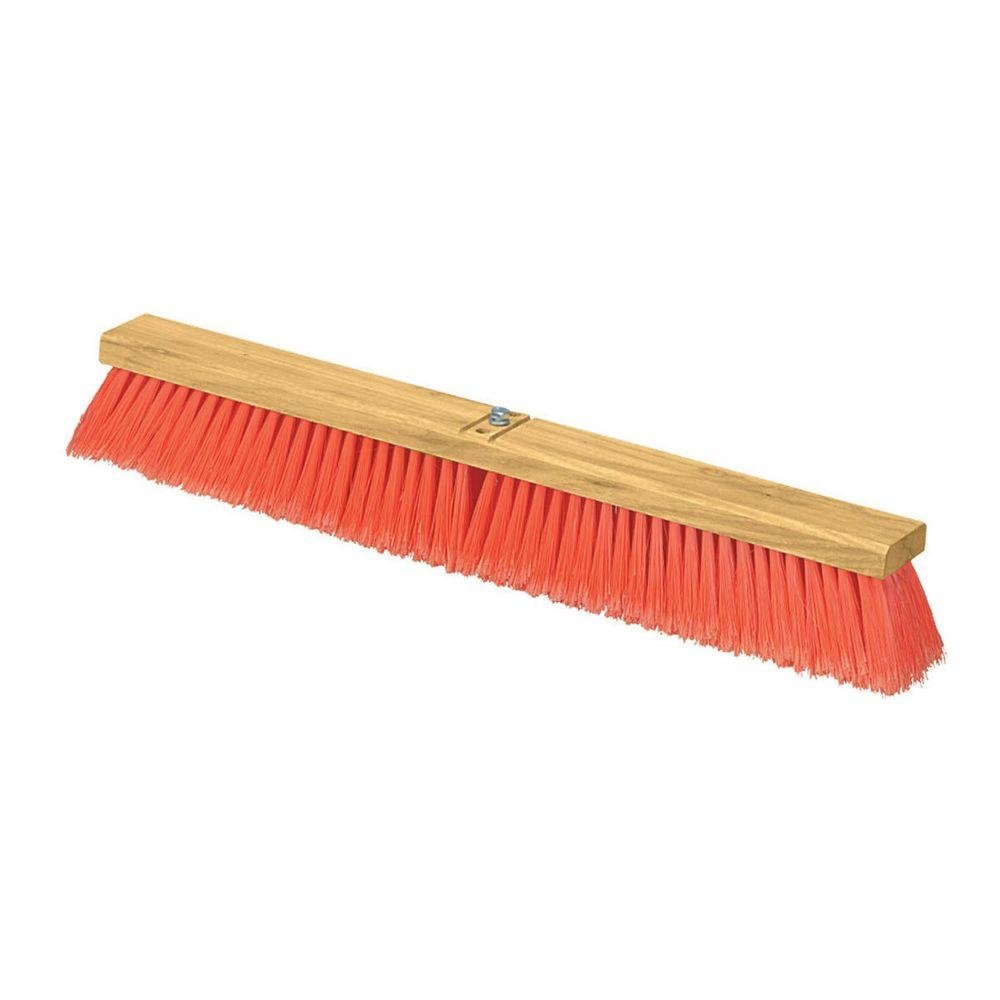 Carlisle 3610223624 Flo-Pac Juno Style Hardwood Block Sweep, Polypropylene Bristles, 36'' Length, Orange