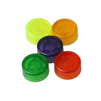 Yibuy - Juego de 5 pomos de plástico para pedal de guitarra eléctrica (2,45 x 1,2 cm): Amazon.es: Instrumentos musicales
