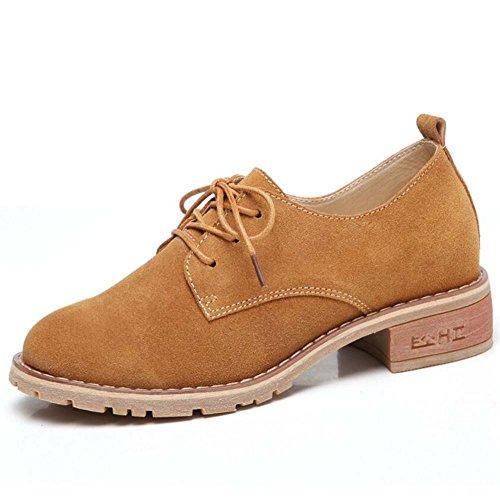 Zapatos Planos Zapatos de Zapatos Cuero Verano Zapatos Zapatos Coreanos de Pequeños Mujer Moda Brown Nuevo Casuales rTxgqwrC