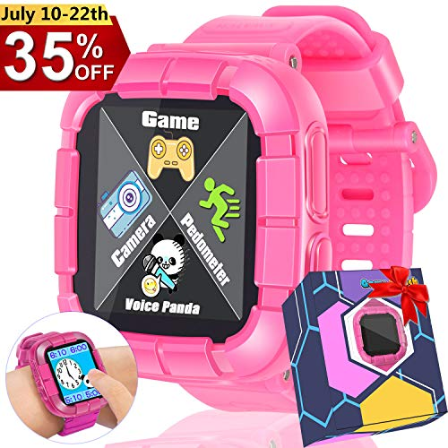 Dreamoo Kids Game Smart Watch for Boy Girl, 2019 New School Touch Screen Camera Pedometer Alarm Wrist Watch Holiday Birthday Electronic Learning Gift (Best Gift For A 7 Year Old Boy 2019)