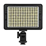 Craphy 204 LED C-204 On Camera Photo Video Light Pad with Dimmable Panel White Orange Filters for Canon Nikon Pentax JVC DSLR DV Camcorder, battery and DC adapter are not included