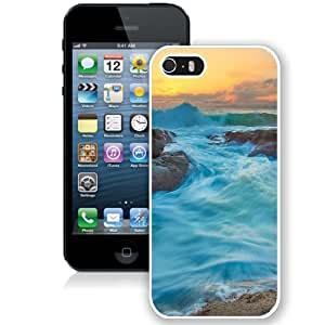 Turquoise Water Waves (2) Durable High Quality iPhone 5S Phone Case
