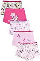 Dimore Little Girls Boyshort Hipster Panties Kids Underwear 5 Pack Pink