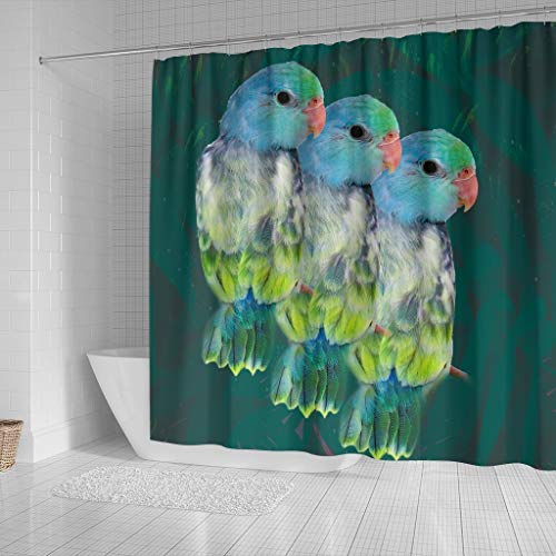 Paws With Attitude Parrotlets Parrot Print Shower Curtains by Paws With Attitude (Image #1)