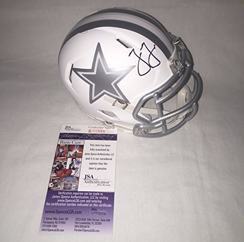 Jason Garrett Signed / Autographed Dallas Cowboys Ice White Mini Football Helmet - JSA Certified