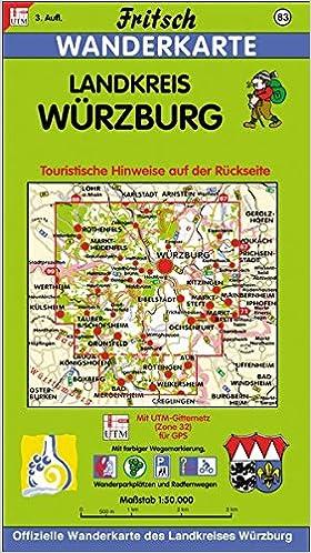 Landkreis Würzburg Karte.Fritsch Karten Nr 83 Landkreis Würzburg Fritsch Wanderkarten 1