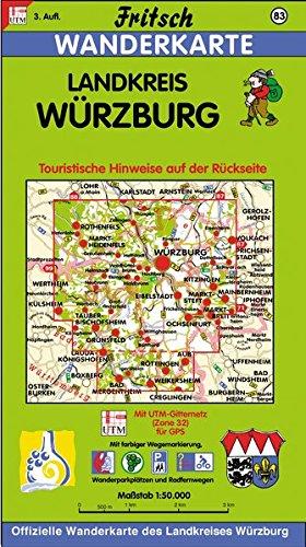 Fritsch Karten, Nr.83, Landkreis Würzburg (Fritsch Wanderkarten 1:50000)