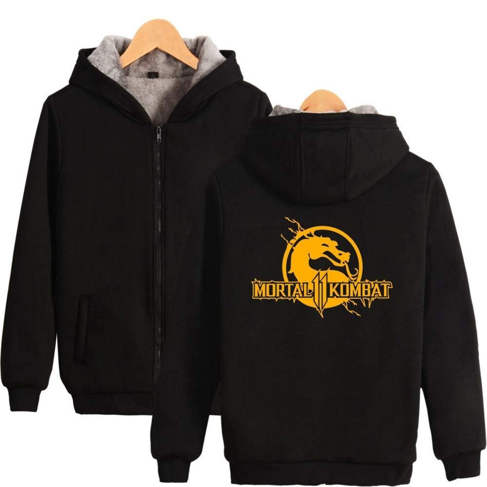 WUDUHUI Mortal Kombat 11 Fashion Plus Maglione con Cerniera