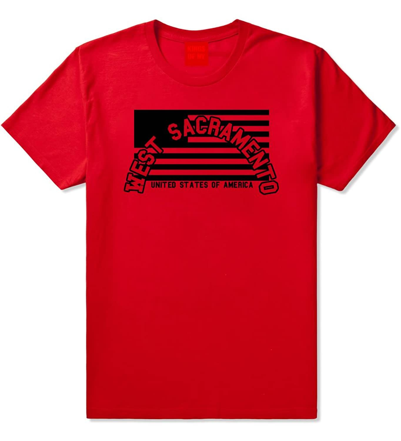 City Of West Sacramento with United States Flag T-Shirt
