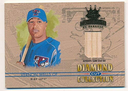 BIGBOYD SPORTS CARDS Vernon Wells 2004 DONRUSS Diamond Kings Cut Collection Blue Jays BAT SP /100 - Diamond Donruss Collection 2004